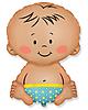 Воздушный шар Шар 32'' (81см)  фигура     малыш мальчик голубой