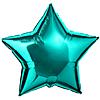 Воздушный шар Шар 18'' (45см)  звезда металлик turquoise тиффани