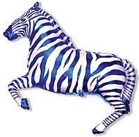 Шар 41'' (104см)  фигура     зебра синий