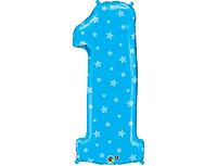 Шар 40'' (106см)  цифра blue