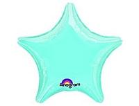 Шар 19'' (48см)  звезда пастель blue