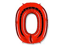 Шар 40'' (106см)  цифра red