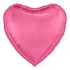 Воздушный шар Шар 18'' (45см)  сердце металлик  пион