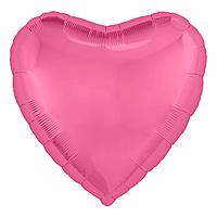 Шар 18'' (45см)  сердце металлик  пион