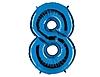 Воздушный шар Шар 40'' (106см)  цифра blue