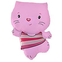 Шар 30'' (76см)  фигура     котенок розовый