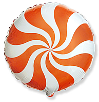 Шар 18'' (45см)  круг     леденец оранжевый