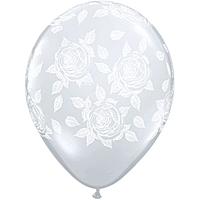Шар 14'' (36см)     элегантные розы   перламутр