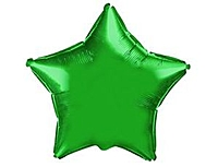 Шар 18'' (45см)  звезда металлик green