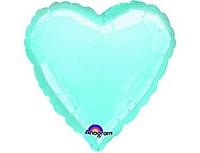 Шар 18'' (45см)  сердце пастель blue