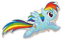 Шар 43'' (109см)  фигура     лошадка радуга