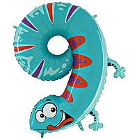 Шар 40'' (106см)  цифра      ящерица