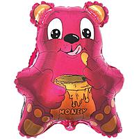 Шар 22'' (55см)  фигура     медведь с мёдом фуше