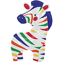 Шар 35'' (88см)  фигура     зебра