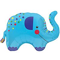 Шар 35'' (88см)  фигура     слоник синий