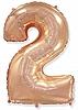 Воздушный шар Шар 40'' (102см)  цифра металлик   rose gold