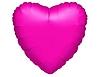 Воздушный шар Шар 18'' (45см)  сердце металлик fuchsia