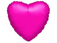 Шар 18'' (45см)  сердце металлик fuchsia