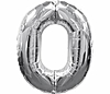 Воздушный шар Шар 40'' (106см)  цифра silver