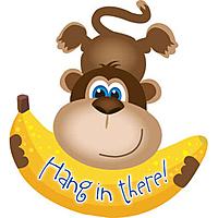 Шар 28'' (71см)  фигура     обезьянка с бананом коричневый