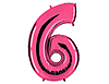 Воздушный шар Шар 40'' (106см)  цифра pink