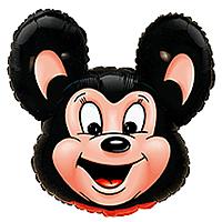 Шар 30'' (76см)  фигура     могучая мышь черный