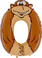 Шар 40'' (106см)  цифра      обезьяна