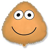 Шар 20'' (50см)  фигура     яйцо желтый