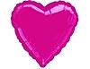 Воздушный шар Шар 18'' (45см)  сердце металлик burgundy