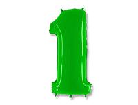 Шар 40'' (106см)  цифра    яркий лайм