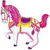 Шар 36'' (91см)  фигура     лошадь карусельная фуше