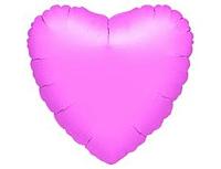 Шар 18'' (45см)  сердце металлик lavender