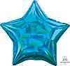 Воздушный шар Шар 19'' (48см)  звезда металлик  см  блеск синяя