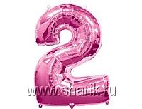Шар 40'' (106см)  цифра pink