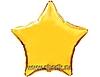 Воздушный шар Шар 18'' (45см)  звезда металлик gold