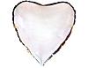 Воздушный шар Шар 18'' (45см)  сердце металлик silver