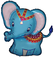 Шар 38'' (96см)  фигура     слоник синий