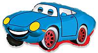 Шар 32'' (81см)  фигура     гоночная машина синий
