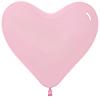 Воздушный шар Шар 14'' (36см)  сердце   светлорозовый  пастель