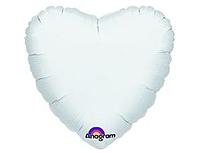 Шар 18'' (45см)  сердце пастель white