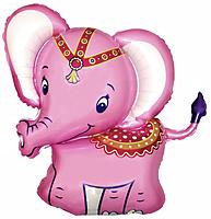 Шар 38'' (96см)  фигура     слоник розовый