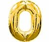 Воздушный шар Шар 40'' (106см)  цифра gold