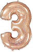 Шар 40'' (106см)  цифра металлик     розовое золото