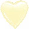 Воздушный шар Шар 18'' (45см)  сердце пастель ivory  айвори