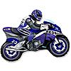 Воздушный шар Шар 33'' (83см)  фигура     мотоцикл синий