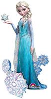 Шар 44'' (111см)  ходячая фигура     холодное сердце принцесса эльза в упаковке