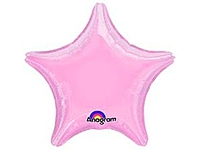Шар 19'' (48см)  звезда металлик pink