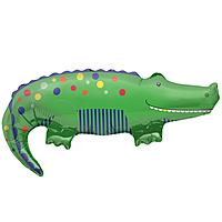 Шар 35'' (88см)  фигура     крокодил зеленый