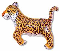 Шар 37'' (93см)  фигура     леопард синий