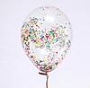 "Воздушный шар Шар 14"" прозрачный с конфетти"